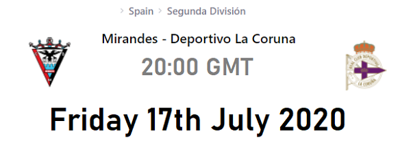 Mirandes vs deportivo lc betting experts best betting online sites