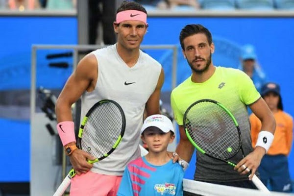 Nadal (left) certainly did not want to be called by Dzumhur this way