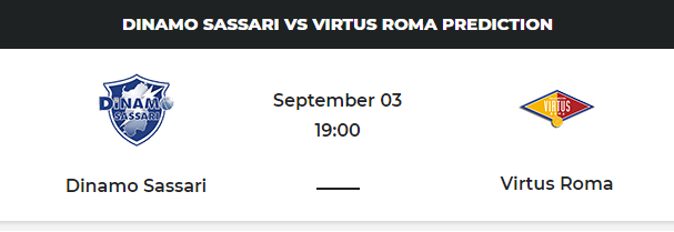 Sassari vs Virtus Roma Prediction